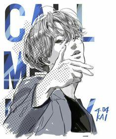 exo kai kimka wow wow stop it please Kai Arts, Exo Fan Art, Kim Jong In, Exo Kai, Kpop Fanart, Manga, Drawing, Chibi, Pop Art