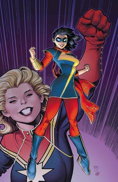 Kamala Khan, the new Ms. Marvel. Art by Art Adams.