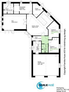 Dobbelt knæk Arkiv | Familie-Huse A/S House Drawing, Planer, Facade, Layouts, House Plans, Floor Plans, Design Ideas, Flooring, How To Plan