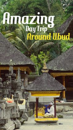 A simple day trip around isolated temples and a beautiful waterfall. A real highlight if you're visiting Ubud.