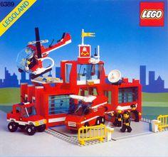 LEGO Set Fire Control Center - building instructions and parts inventory. Lego Burg, Best Lego Sets, Big Lego, Classic Lego, Lego Videos, Lego City Sets, Lego Boards, Lego City Police, Vintage Lego