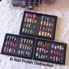 Frame Your Nail Tips To Decorate Table Station By Polish Distraction Michelle Myers Art Display