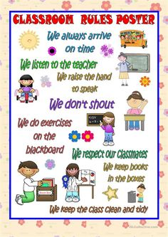 Classroom rules - setting rules in the classroom ensures safety and discipline in the classroom Art Classroom Rules, Classroom Charts, Classroom Quotes, Classroom Bulletin Boards, Classroom Language, Classroom Displays, Classroom Setting, School Classroom, Rules For Kids