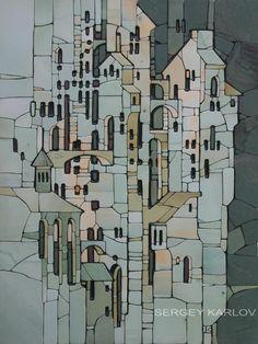 city relief mosaic Sayanogorsk 2014  Easel mosaic - Sergey Karlov