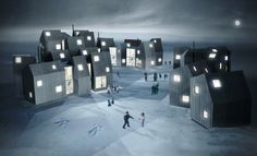 """House of Families"" is a project for the Greenland Self Government and Kommuneqarfik Sermersooq to provide housing for disadvantaged young women with children in Nuuk, Greenland. The residential design concept is by architects Fantastic Norway. \\ ArchDaily.com \\"