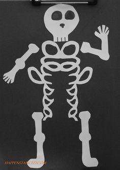 easy skeleton halloween craft