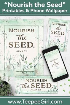 Use this Nourish the Seed kit (Alma for Relief Society, Young Women, ministering, home decor, and gifts! It's a great reminder that we need to keep feeding our faith. Click now to learn more. Relief Society Handouts, Relief Society Lessons, Young Women Lessons, Enrichment Activities, Singing Time, Visiting Teaching, The Help, Seeds, This Or That Questions