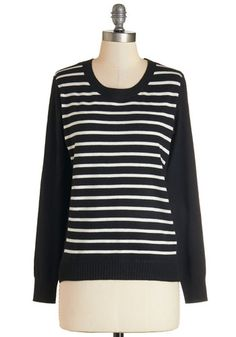 Must-Have Style Sweater. Whats black, white, and stylish all over? #black #modcloth