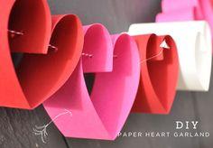 Une guirlande de cœurs DIY