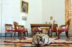 Historic interiors of Alexander Palace in Tsarskoye Selo (Pushkin), south of St Petersburg, Russia