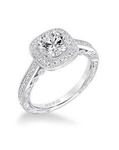 ArtCarved 31-V686ERW-E Engagement Ring photo