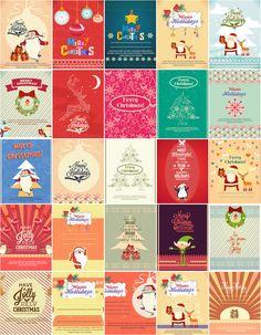 Christmas illustrations vectors