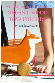 Your place to buy and sell all things handmade Toddler Boy Toys, Wooden Toys For Toddlers, Wooden Baby Toys, Toddler Gifts, Kids Toys, Gifts For Dog Owners, Dog Lover Gifts, Corgi Toys, Wood Animal