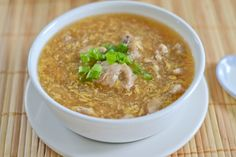 Maki soup is a Filipino-Chinese soup that consists of pork in a brown and very thick soup. Pork tenderloin is usually used in this dish because it is tender and takes less time to cook.