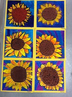 WHAT'S HAPPENING IN THE ART ROOM??: 3rd Grade Sunflowers