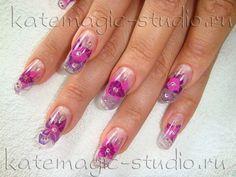 Мастер: Петровская Ирина Маникюр, рисунок на ногтях, nail-art, акрил Студия KateMagic