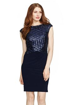 Lauren Ralph Lauren Two-Toned Beaded Dress