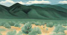 Hand painted reproduction of Hills Before Taos This masterpiece was painted originally by Georgia O'Keeffe. Museum quality handmade oil painting reproduction oil painting on canvas. Georgia O'keeffe, Alfred Stieglitz, Georgia O Keeffe Paintings, Wisconsin, New York Art, Southwest Art, Oil Painting Reproductions, Art Institute Of Chicago, Famous Artists