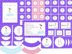 Purple Figure Skating Party Printable by TrishsDesignStudio