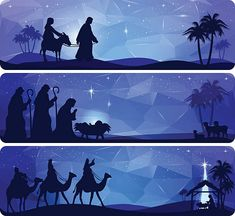 Choose from 60 top Mary And Joseph stock illustrations from iStock. Find high-quality royalty-free vector images that you won't find anywhere else. Christmas Nativity Scene, Christmas Scenes, A Christmas Story, Christmas Art, Christmas 2019, Silhouette Nativité, Nativity Silhouette, 1 Advent, Papier Diy