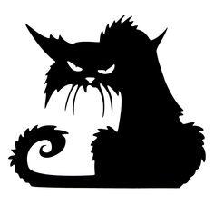 Halloween Scary Black Cat Glass Sticker Halloween Decor at Banggood
