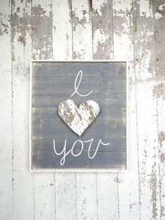I love you rustic wooden heart rustic wood sign by katieruebel on Etsy https://www.etsy.com/listing/254291976/i-love-you-rustic-wooden-heart-rustic