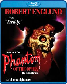 Review for the Blu-ray release of 1989's Phantom Of The Opera starring Robert Englund. Available 2/17/2015.