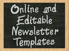 Free Word Newsletter Templates | Pin Newsletter Templates School ...