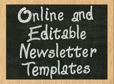 free newsletter templates | Education | Pinterest | Newsletter ...