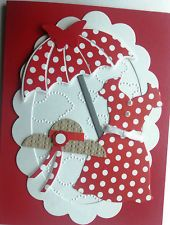 RED DRESS Handmade Greeting Card Kit Perfect Feminine All Occasion