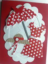 RED DRESS Handmade Greeting Card Kit Perfect Feminine All Occasion