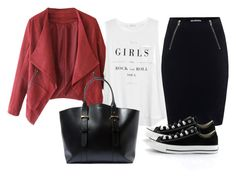 """""""Bez naslova #3544"""" by ramayanna ❤ liked on Polyvore featuring MANGO, T By Alexander Wang, Lanvin and Converse"""