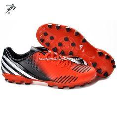 Scarpe Calcio Online Rosso Nero Adidas Predator Absolado LZ TRX AG Bandiera