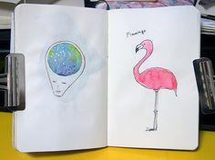 脳内&フラミンゴ #moleskine