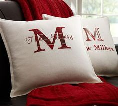 Personalized Applique Pillow Cover #potterybarn