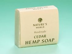 """Nature's World """"CEDAR"""" Hemp Soap, Handmade, 100% Organic by Nature's World. $4.90. Hand Made, 100% Organic Hemp Soap. Made in England. Suitable for Vegetarians and Vegans - GM Free - Soya Free. No Sodium Lauryl Sulphates - No Parabens - Not Tested on Animals. Combine with other Honeyrose Products and qualify for FREE SHPPING on orders of $49 & UP. The cedar aroma will never lose its dusky appeal: it just smells clean, soft and kind. Bar size is 100g. Our simpl..."""