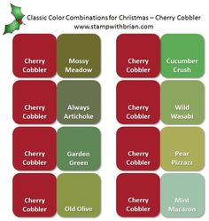 Stampin' Up! Color Inspiration: Classic Christmas Pairings with Cherry Cobbler
