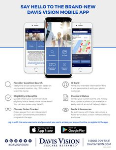 Now your vision benefit is as mobile as you are. The new Davis Vision app is available now!
