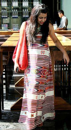 ikat print Maxi dress from Zara