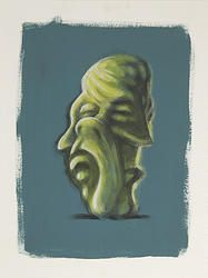 """""""Fusion 5"""" von Matthias Triet   Acryl auf Aquarellpapier   30 x 40 cm   www.einfachKunst.ch   Art   Basel   Schweiz"""