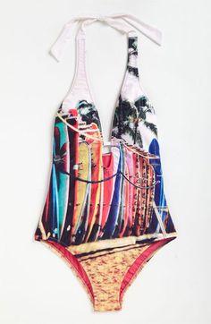W Swimwear 'Vintage Surf' One Piece Swimsuit | Nordstrom