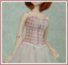 Corset and skirt set for MSD BJD fashion doll