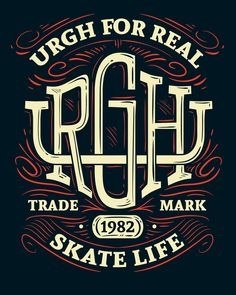 Skate Life Artwork Urgh by Thiago Pacheco #lettering #type #design