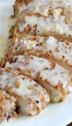 Pecan Crusted Chicken with Apple Cream Sauce - Apple Cream Sauce sounds sooo goood!