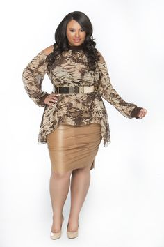 Open Cold Shoulder Cut Out Top Snakeskin Snake Print Tunic Plus Size #UNIQUE_WOMENS_FASHION