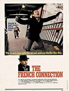 "Original U. S. One sheet printer's proof; untrimmed 30 x 40"" film poster for The French Connection.   NSS:  71/316.   another great original poster on display at The Vintage Poster Gallery!"