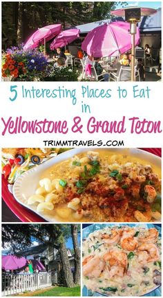 If you're planning a trip to Yellowstone, you might be wondering what your options are when it comes to food. These five interesting places to eat in Yellowstone and Grand Teton National Parks are perfect if you're wanting to find local, unique places with fabulous choices on the menu! #yellowstone #grandteton #food #foodie #restaurants #wheretoeat #montana #usa #destinations #travelguide