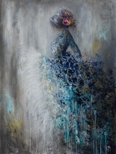 """Art by Jillian Lee  Wise beyond her years  40"""" x 30""""  Mixed media on board  GRIFFIN GALLERY sharon@griffingallery.com 952-844-9884"""