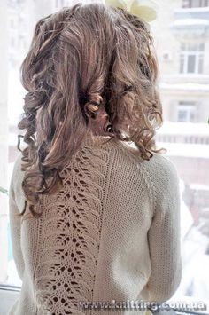 olga_bloomsbury_3. (600×903) Knitting For Kids, Easy Knitting, Morning Girl, Chunky Knitting Patterns, Shrug Cardigan, Bloomsbury, Knitted Shawls, Cotton Style, Lace Back
