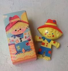 Vintage Avon Children's Pin Scarecrow